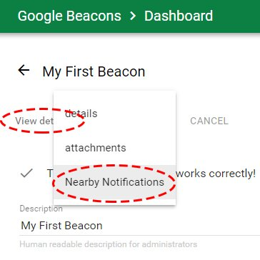5 MINUTE SETUP GUIDE TO NEARBY NOTIFICATIONS BEACON – EXPRE